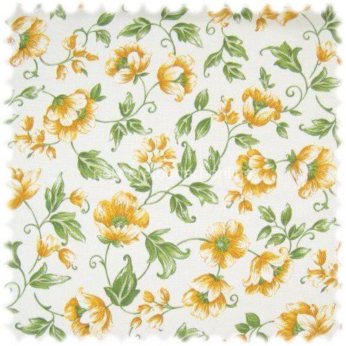 Stoff kleine gelbe Blumen