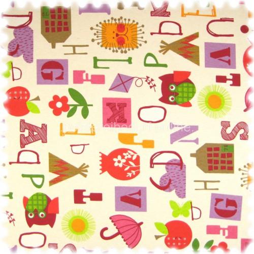Farbdruck Möbelstoff Children Pink / Lila / Rot