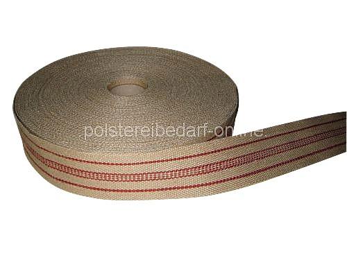 polster jute gurte fest rot meterware polstermaterialien polstergurte. Black Bedroom Furniture Sets. Home Design Ideas