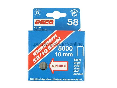 Klammern Esco Länge 10mm Typ 58/10 5000 Stk. Superhart Stahl