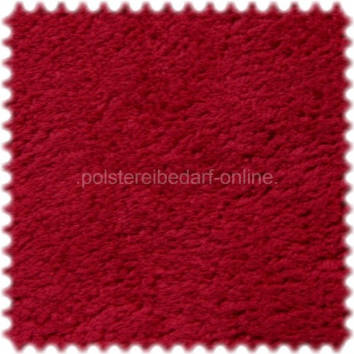 AKTION Möbelstoff Polyester Plüsch im Teddy Look Charly Rot